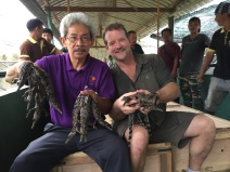 Jong's croc farm, Borneo, with Chip Harshaw